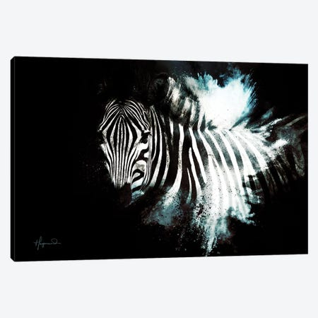 The Zebra II Canvas Print #PHD809} by Philippe Hugonnard Canvas Wall Art