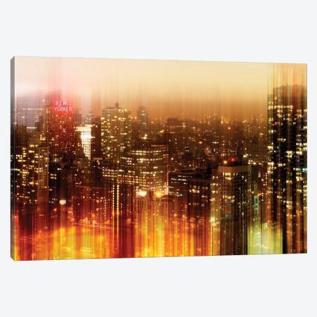 New York by Night Canvas Print #PHD80} by Philippe Hugonnard Canvas Art