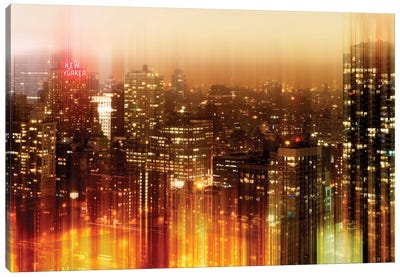 New York by Night Canvas Art Print