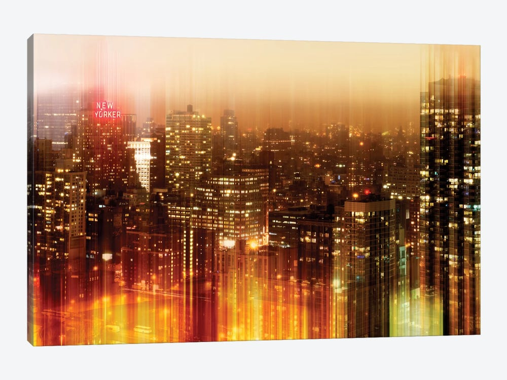 Urban Stretch Series - New York by Night 1-piece Canvas Art