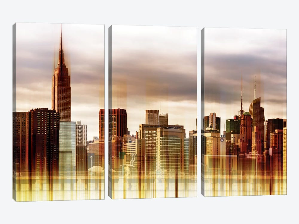 Urban Stretch Series - New York City by Philippe Hugonnard 3-piece Canvas Print