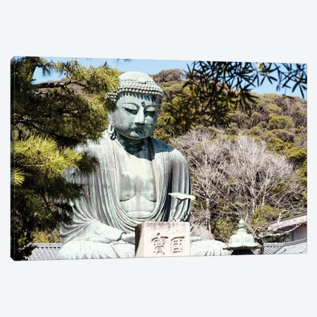 Kamakura Great Buddha III Canvas Print #PHD822} by Philippe Hugonnard Canvas Wall Art