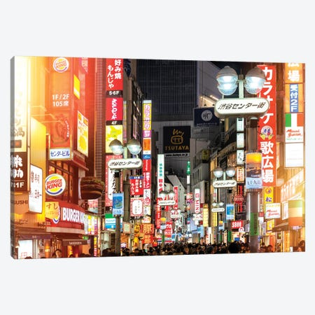 Tokyo Night Canvas Print #PHD826} by Philippe Hugonnard Canvas Print