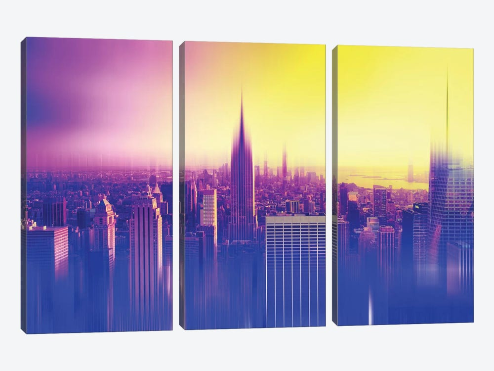 New York Colors by Philippe Hugonnard 3-piece Canvas Artwork