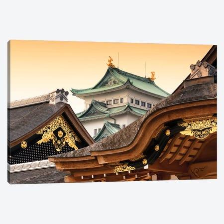 Nagoya Castle At Sunset Canvas Print #PHD832} by Philippe Hugonnard Art Print