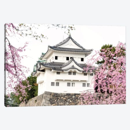 Sakura Nagoya Castle Canvas Print #PHD833} by Philippe Hugonnard Canvas Print