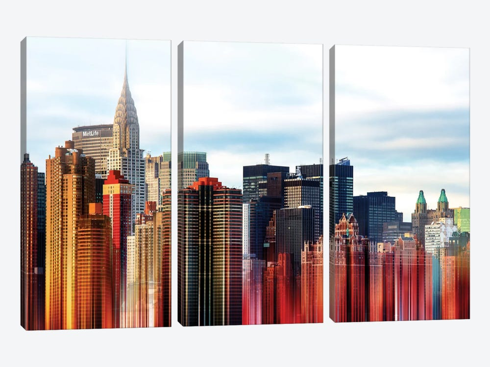 Urban Stretch Series - New York by Philippe Hugonnard 3-piece Canvas Print