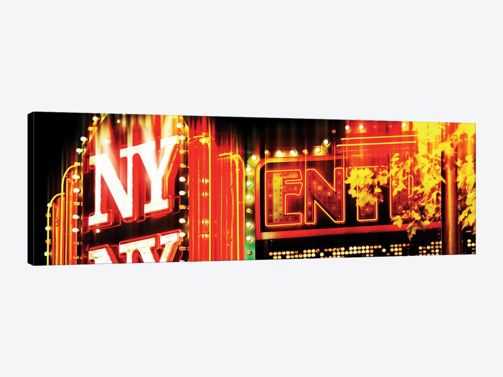 Urban Stretch Series - NY Sign by Philippe Hugonnard 1-piece Canvas Artwork