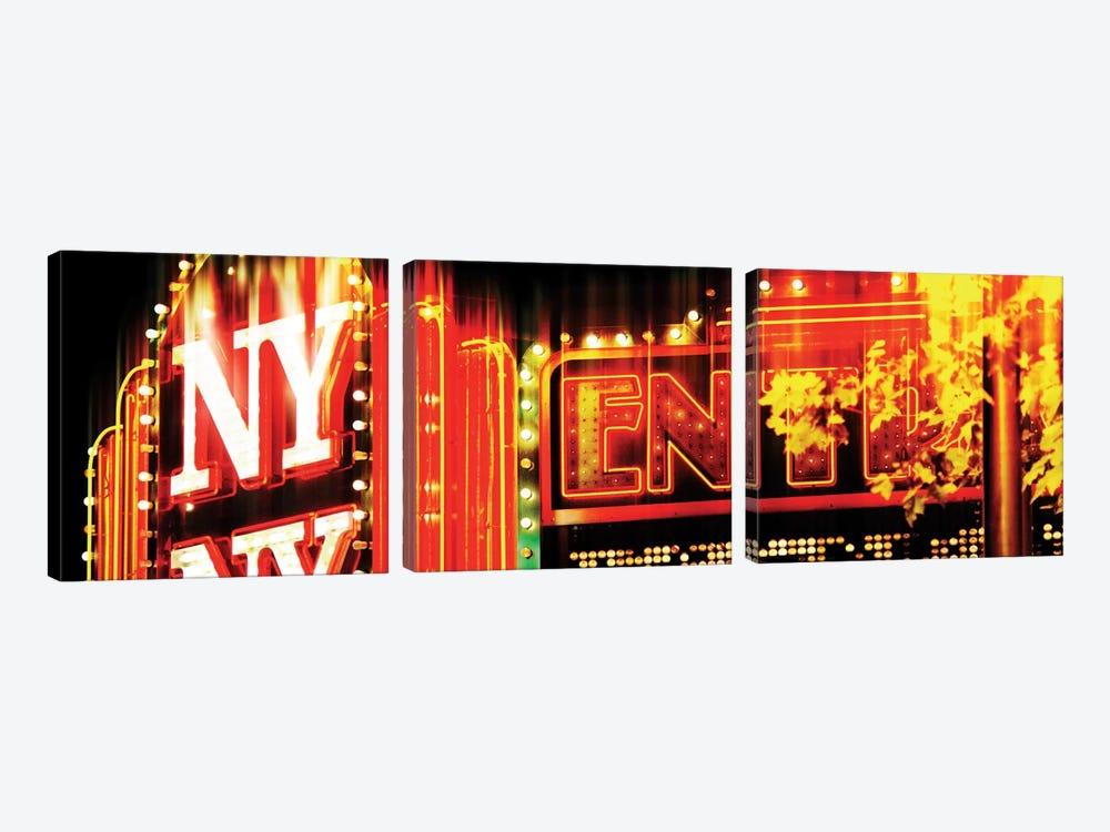 Urban Stretch Series - NY Sign by Philippe Hugonnard 3-piece Canvas Artwork