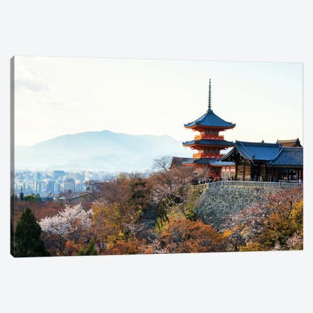 Pagoda Kiyomizu-Dera Temple Canvas Print #PHD859} by Philippe Hugonnard Canvas Print