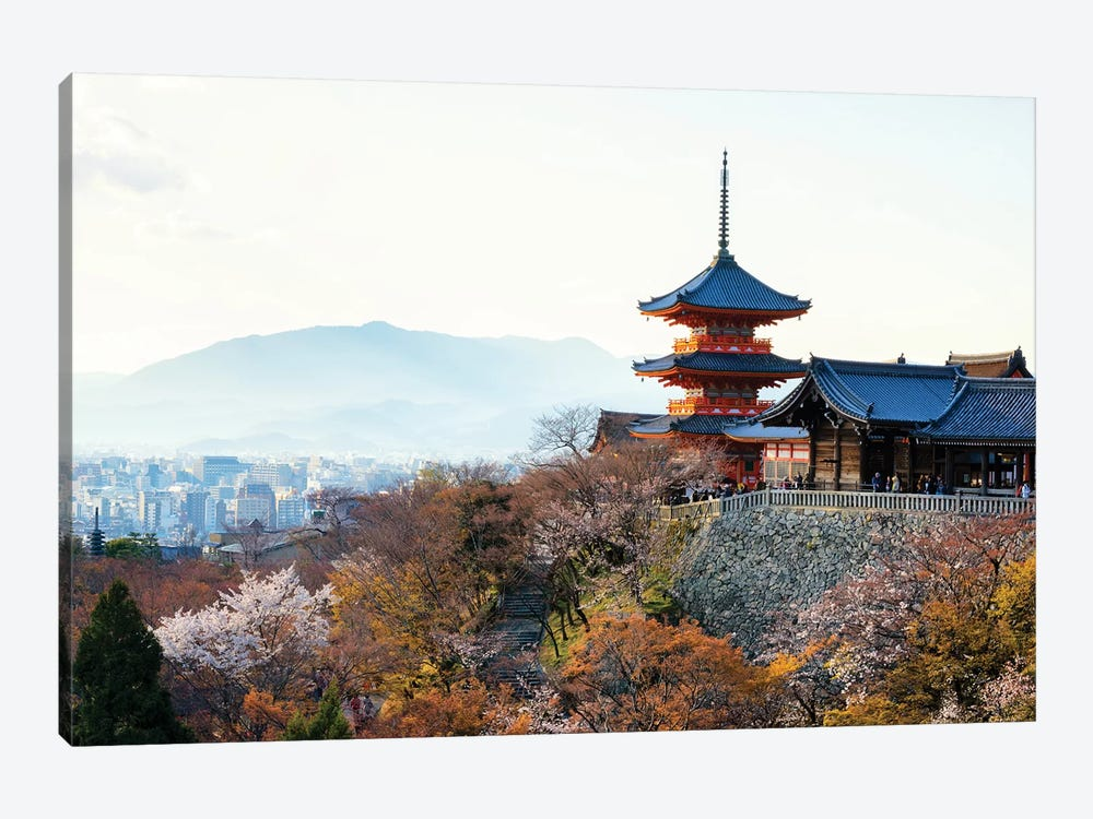 Pagoda Kiyomizu-Dera Temple 1-piece Canvas Art Print