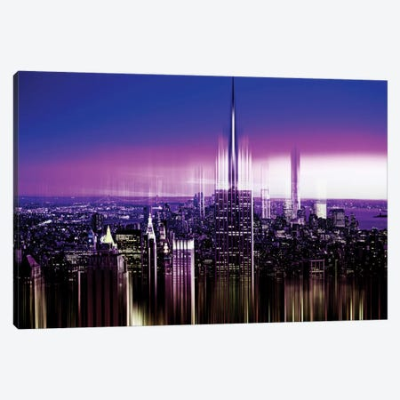NYC Purple Night Canvas Print #PHD85} by Philippe Hugonnard Art Print