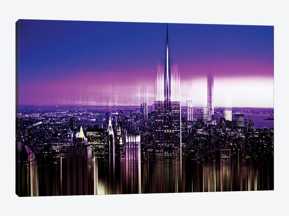 Urban Stretch Series - NYC Purple Night by Philippe Hugonnard 1-piece Art Print