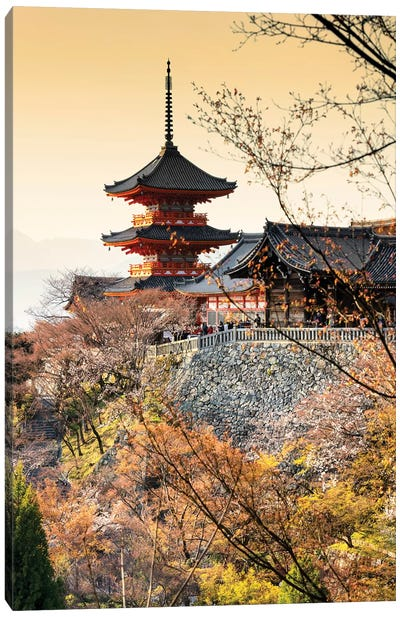 Pagoda Kiyomizu-Dera Temple At Sunset II Canvas Art Print