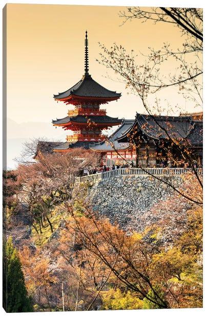 Pagoda Kiyomizu-Dera Temple At Sunset II Canvas Art Print