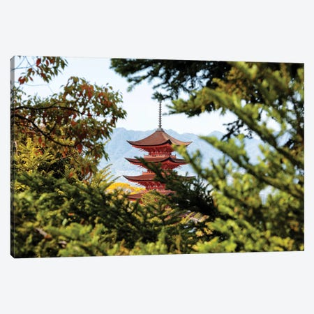 Pagoda In Miyajima Canvas Print #PHD867} by Philippe Hugonnard Art Print