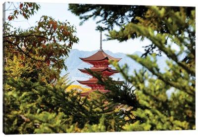 Pagoda In Miyajima Canvas Art Print