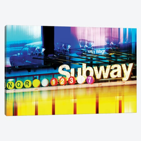 NYC Subway Canvas Print #PHD86} by Philippe Hugonnard Art Print