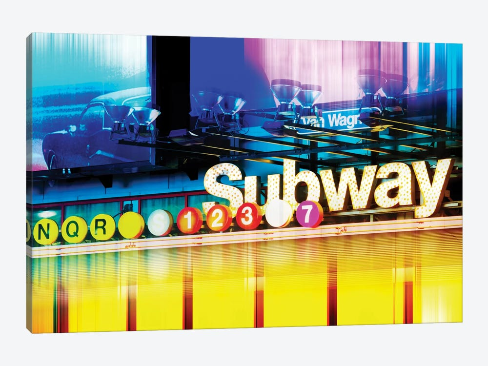 Urban Stretch Series - NYC Subway by Philippe Hugonnard 1-piece Canvas Artwork