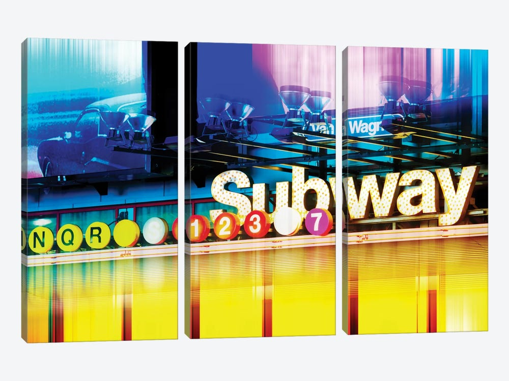 Urban Stretch Series - NYC Subway by Philippe Hugonnard 3-piece Canvas Art