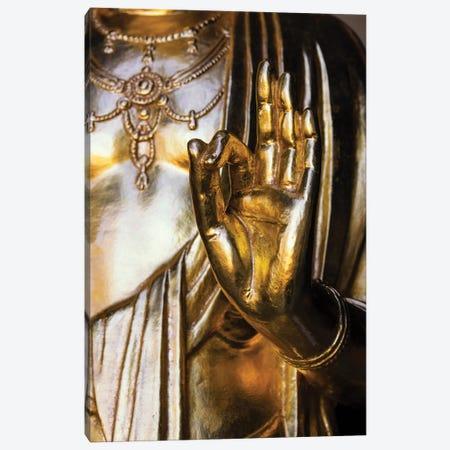 Golden Buddha Hand Canvas Print #PHD882} by Philippe Hugonnard Canvas Wall Art