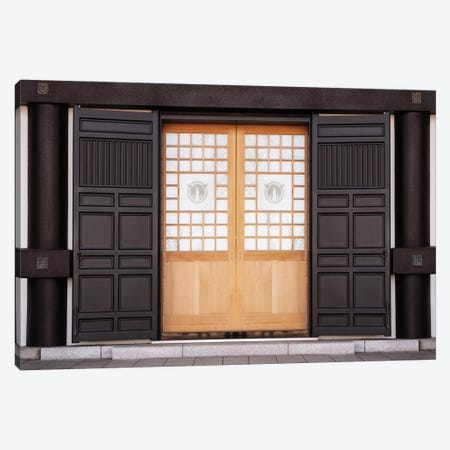 Japanese Door Canvas Print #PHD883} by Philippe Hugonnard Canvas Artwork