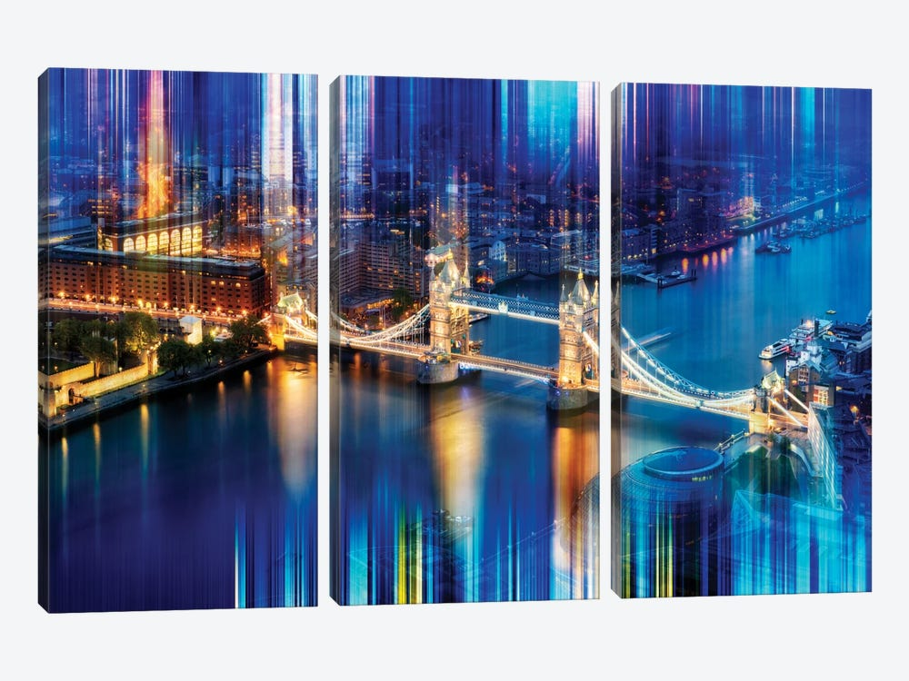 Tower Bridge by Philippe Hugonnard 3-piece Canvas Artwork