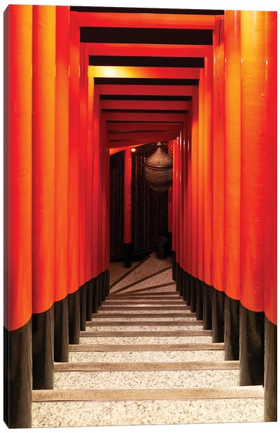Japanese Staircase Canvas Art Print