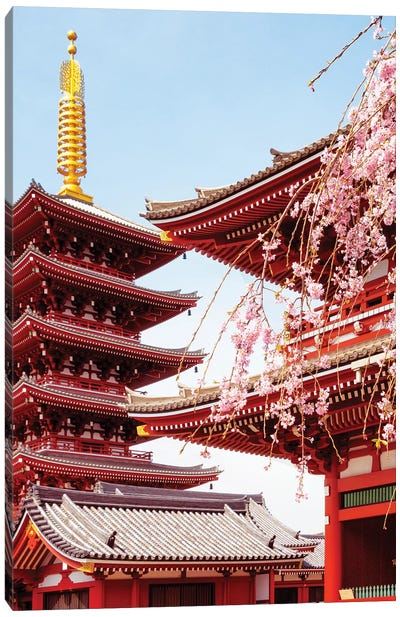Senso-Ji Pagoda II Canvas Art Print