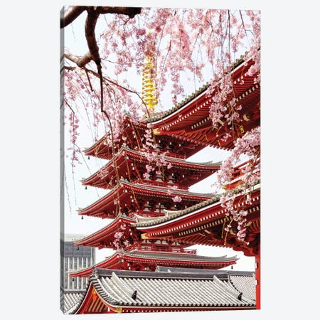 Senso-Ji Pagoda IV Canvas Print #PHD894} by Philippe Hugonnard Canvas Artwork