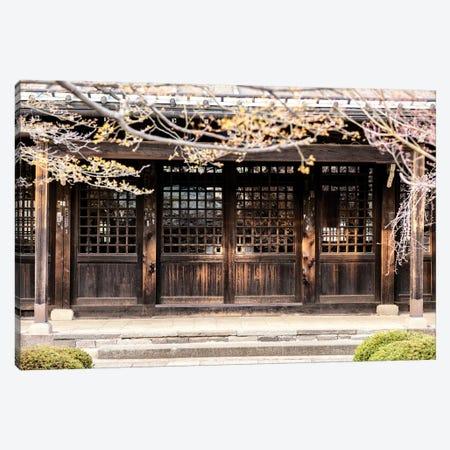 Japanese Wooden Facade Canvas Print #PHD895} by Philippe Hugonnard Canvas Artwork
