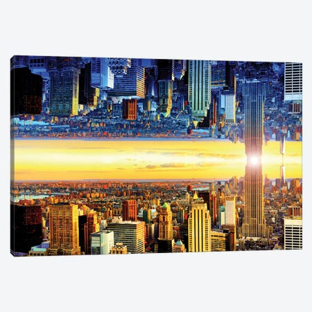Double Sided - NYC Canvas Print #PHD8} by Philippe Hugonnard Canvas Artwork