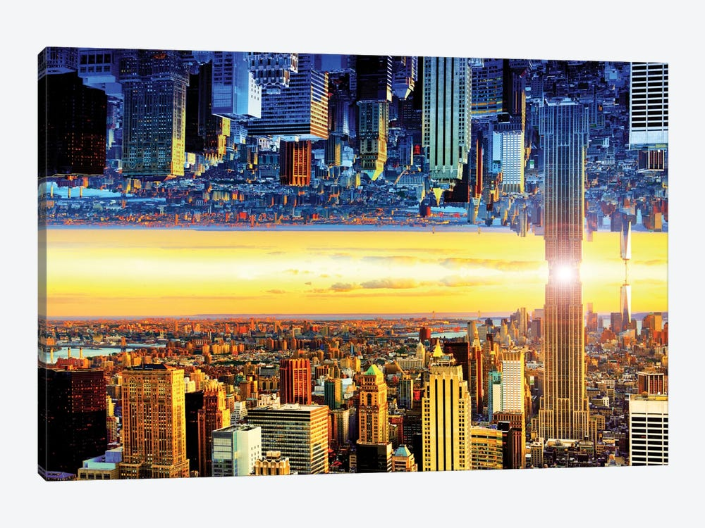 Double Sided - NYC by Philippe Hugonnard 1-piece Canvas Art