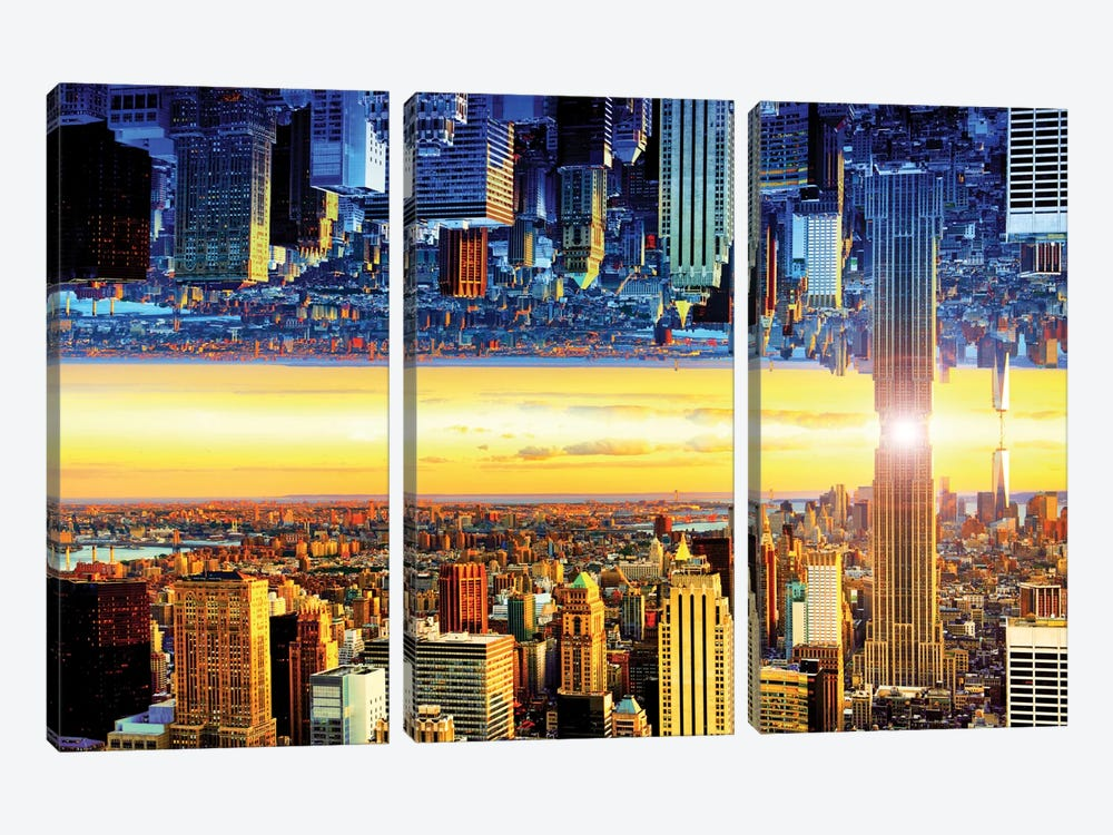 Double Sided - NYC by Philippe Hugonnard 3-piece Canvas Artwork