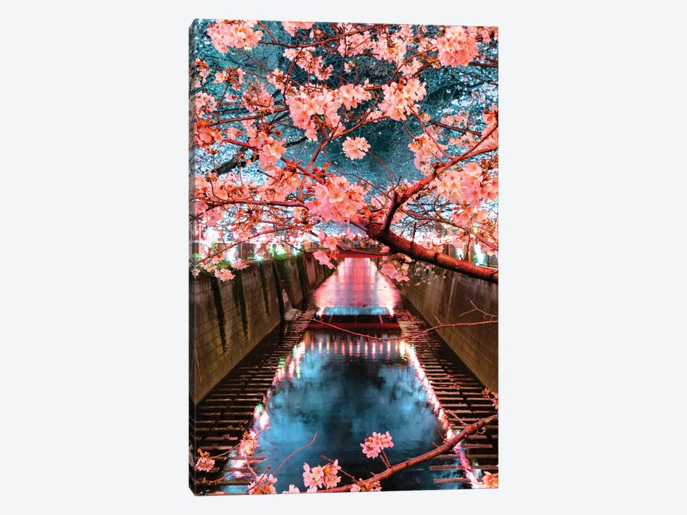 Cherry Blossom At Meguro Canal III by Philippe Hugonnard 1-piece Canvas Artwork