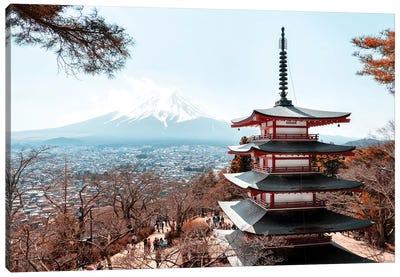 Mt. Fuji With Chureito Pagoda Canvas Art Print