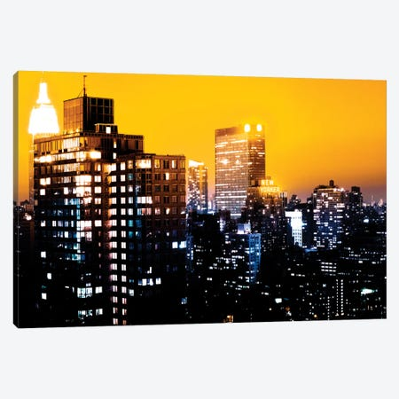 Yellow Night - NYC Canvas Print #PHD90} by Philippe Hugonnard Canvas Art Print