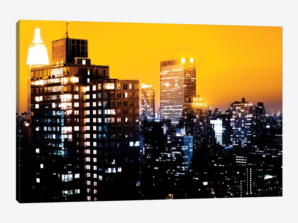 Yellow Night - NYC by Philippe Hugonnard 1-piece Art Print