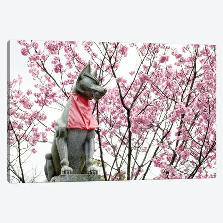 Guard Dog Cherry Blossoms Canvas Print #PHD916} by Philippe Hugonnard Canvas Print
