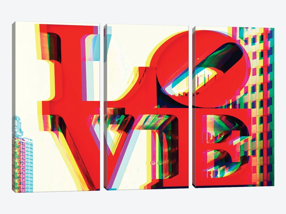 Love by Philippe Hugonnard 3-piece Canvas Wall Art
