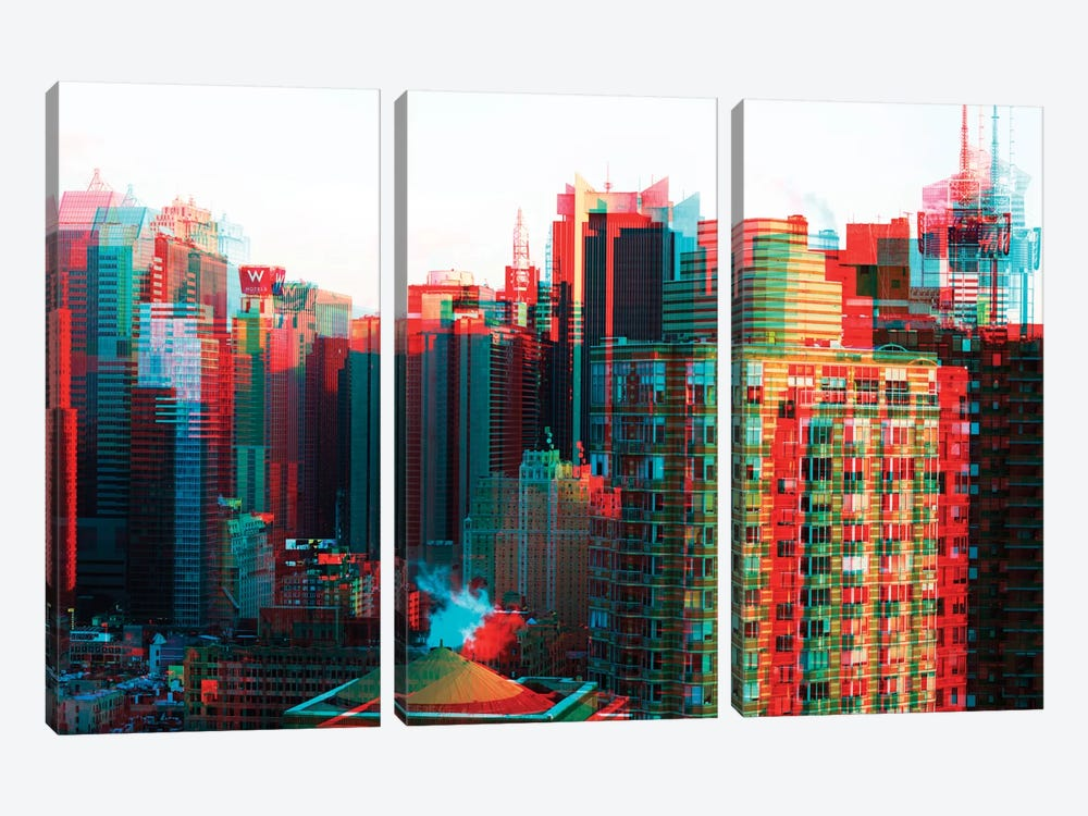 After Twitch Series - Manhattan by Philippe Hugonnard 3-piece Canvas Print
