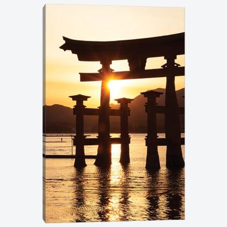 Miyajima Torii Sunset Canvas Print #PHD932} by Philippe Hugonnard Canvas Artwork