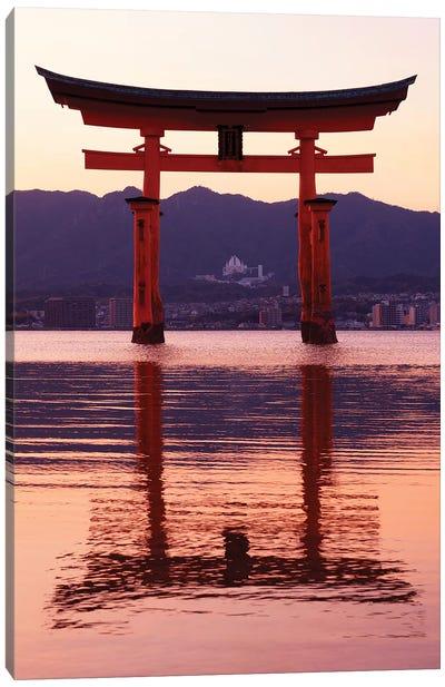 Sunset Of Torii Gate In Miyajima II Canvas Art Print