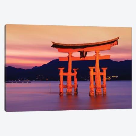 Sunset Of Torii Gate In Miyajima III Canvas Print #PHD936} by Philippe Hugonnard Canvas Print