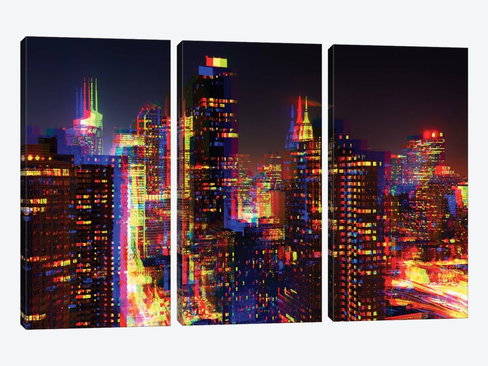 NYC by Philippe Hugonnard 3-piece Canvas Wall Art