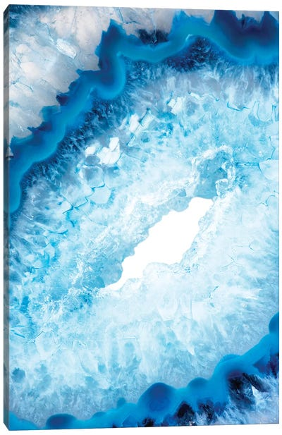 Blue Agate Heart Canvas Art Print