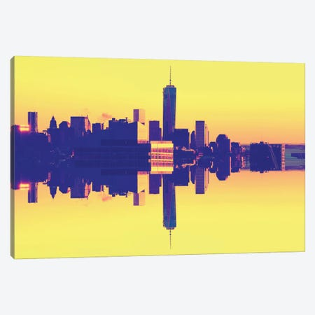 Double Sided - One World Trade Center - Pop Art Canvas Print #PHD9} by Philippe Hugonnard Canvas Art