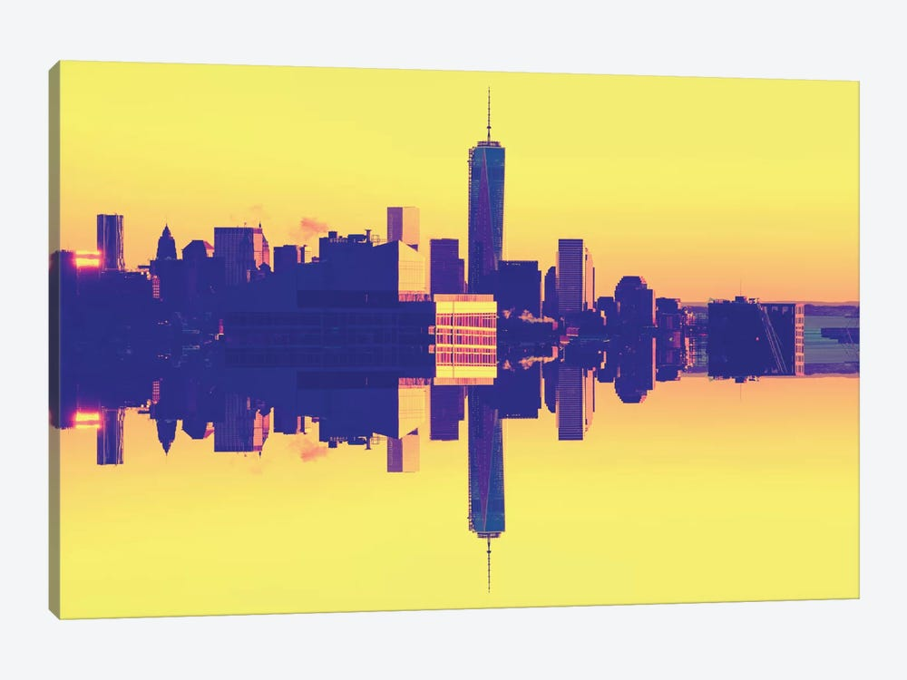 Double Sided - One World Trade Center - Pop Art by Philippe Hugonnard 1-piece Canvas Print