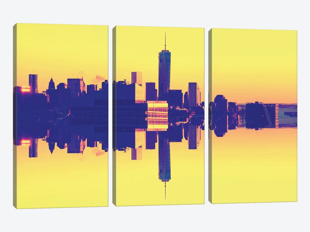 Double Sided - One World Trade Center - Pop Art by Philippe Hugonnard 3-piece Canvas Art Print