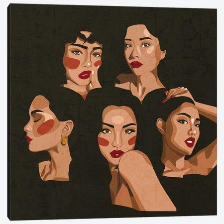 Strong Women Canvas Print #PHG15} by Phung Banh Art Print
